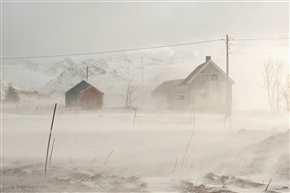 Schneesturm, Moskenesøya/Lofoten