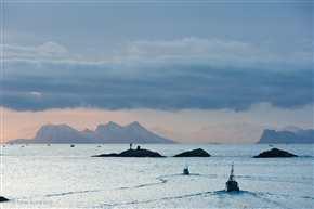 Fischer auf dem Vestfjord, Lofoten