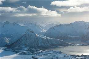 Bergwelt bei Sandsletta, Lofoten