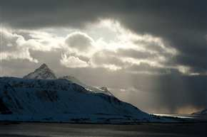 Licht über dem Skottind, Vestvågøya/Lofoten